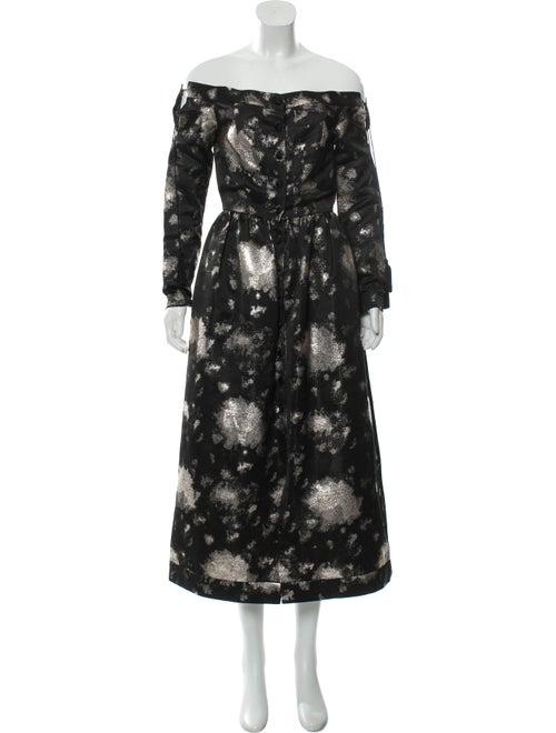 Markarian 2017 Button-Up Midi Dress Black