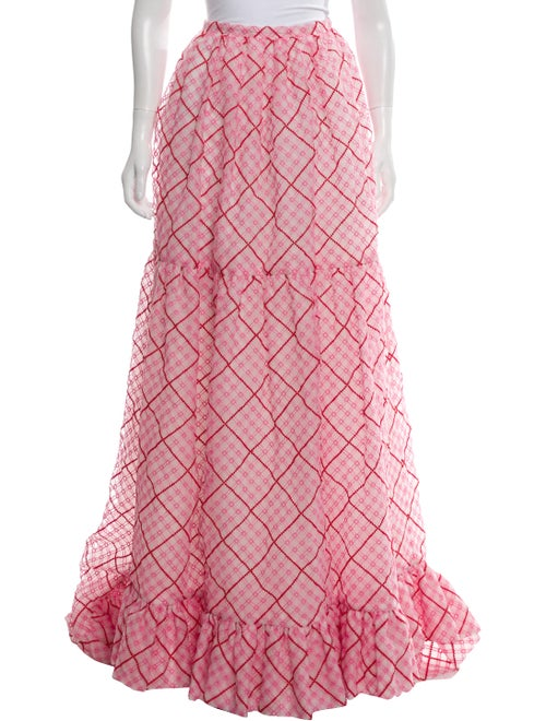 Markarian Embroidered Maxi Skirt Pink