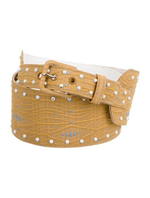Markarian Ingrid Leather Belt Yellow