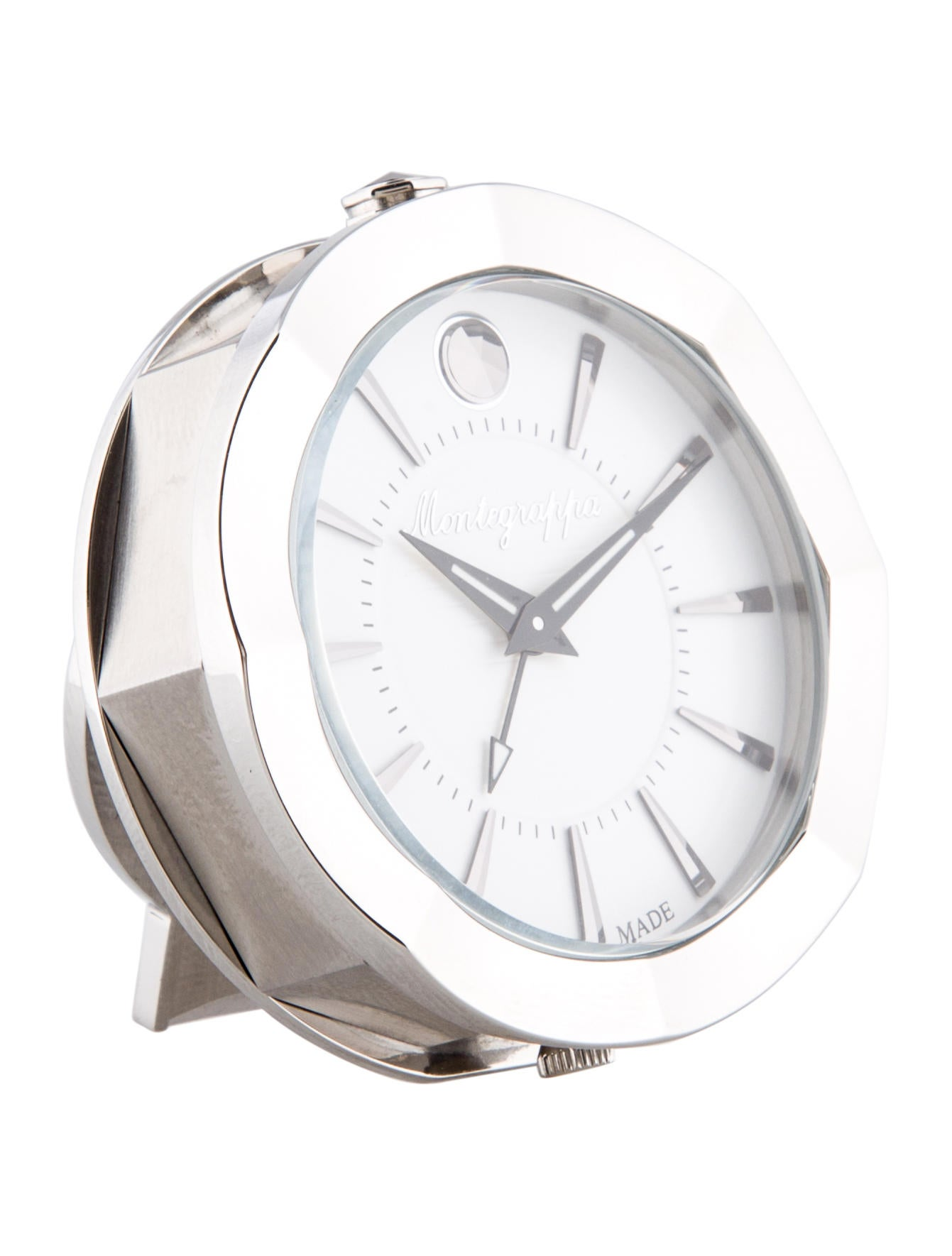 Montegrappa Stainless Steel Travel Clock Decor And