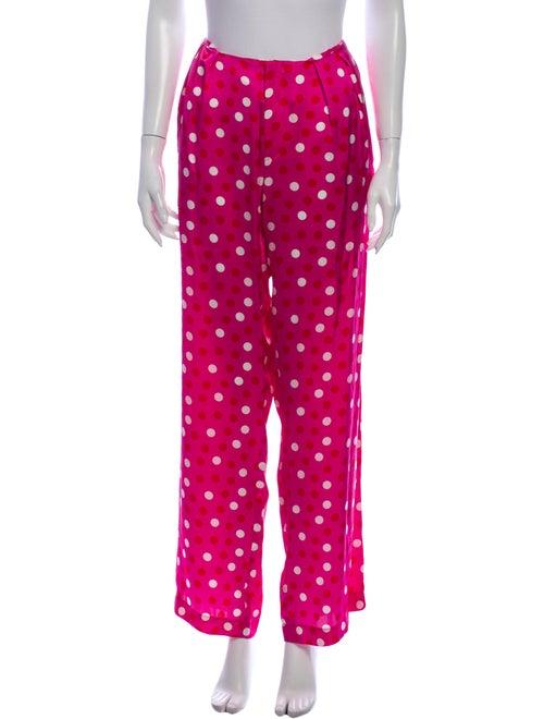 Maggie Marilyn Silk Wide Leg Pants Pink