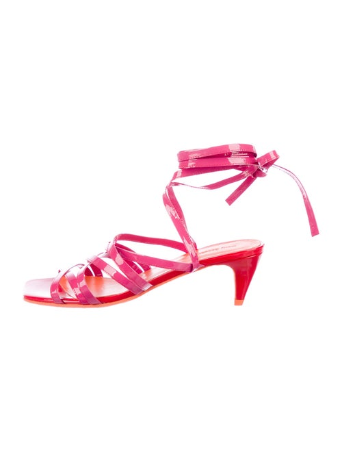 Molly Goddard Tina Patent Leather Gladiator Sandal