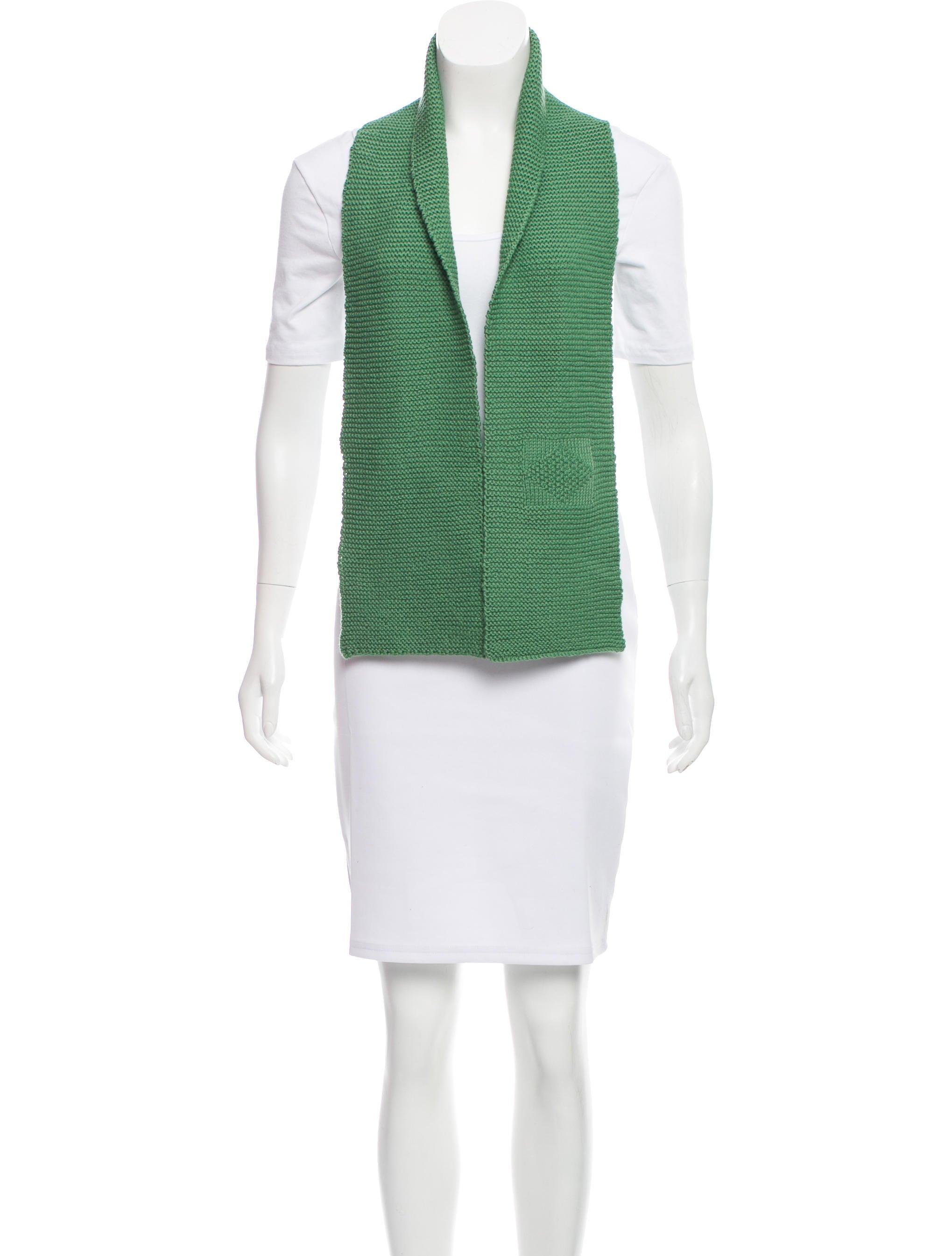 margaret howell wool rib knit scarf accessories