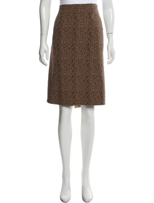 Michael Kors Leopard Print Wool Skirt w/ Tags Tan