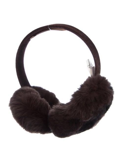 Michael Kors Fur Ear Muffs Brown