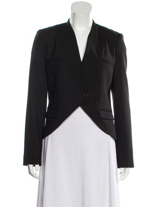 Michael Kors Wool Collarless Blazer Black