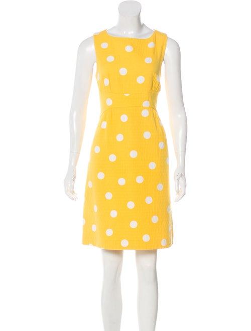 Michael Kors Polka Dot Sheath Dress Yellow