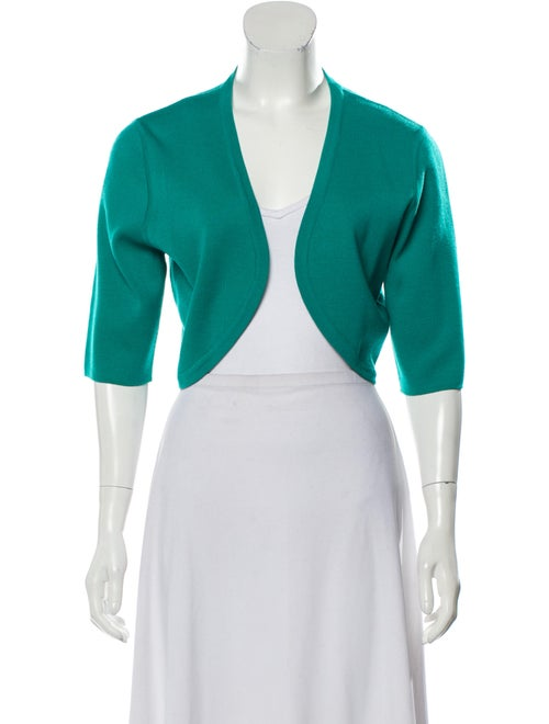 Michael Kors Wool Short Sleeve Cardigan Teal