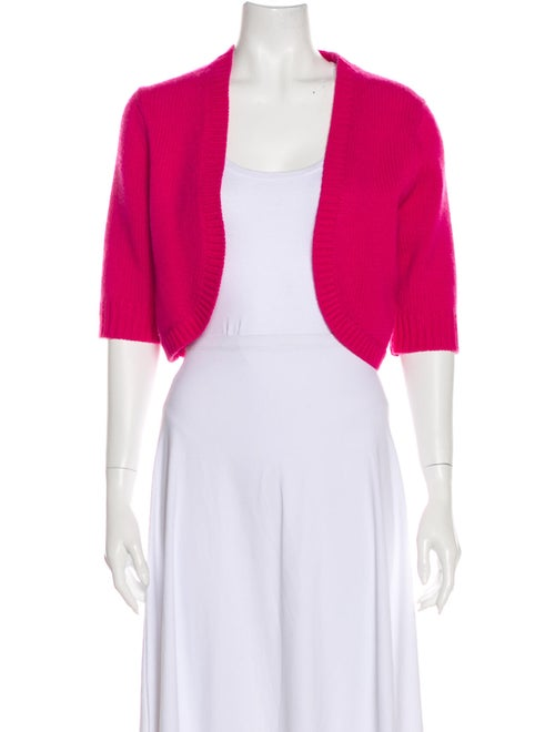 Michael Kors Cashmere Open Front Sweater Pink