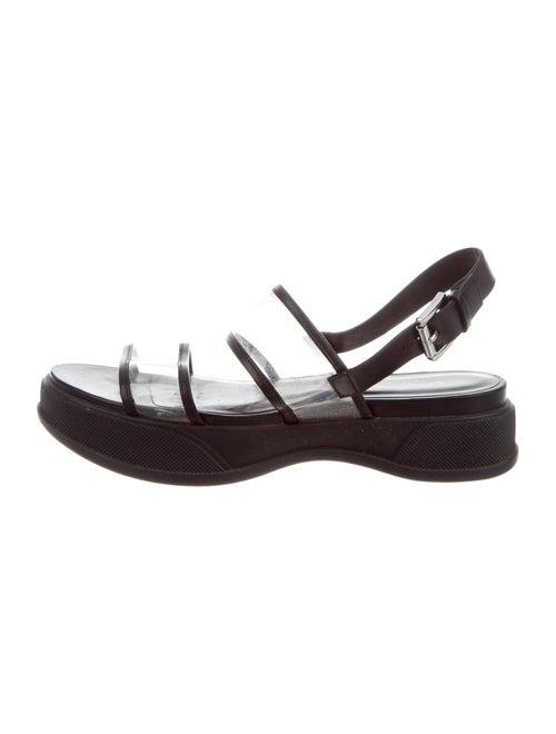 Michael Kors PVC Ankle Strap Sandals Clear