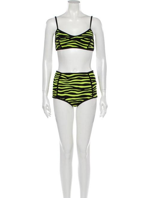 Michael Kors Animal Print Bikini Green