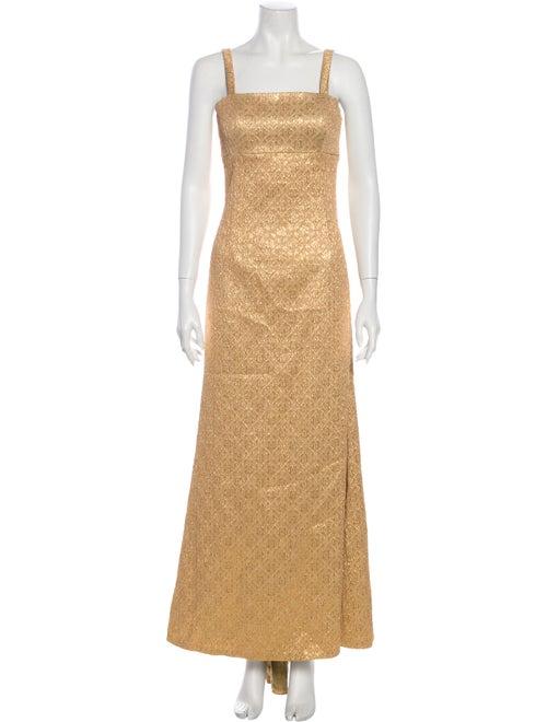 Michael Kors Printed Long Dress Gold