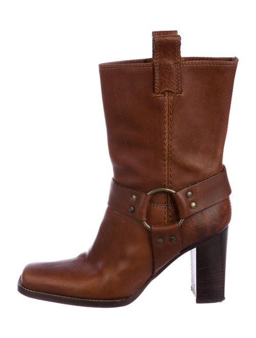 Michael Kors Leather Ankle Boots Brown