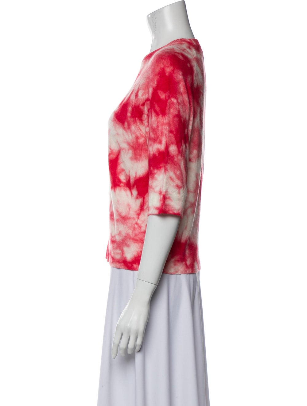 Michael Kors Cashmere Tie-Dye Print Sweater Red - image 2