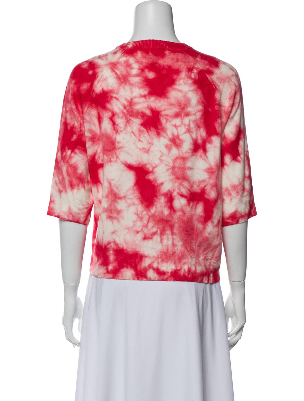 Michael Kors Cashmere Tie-Dye Print Sweater Red - image 3