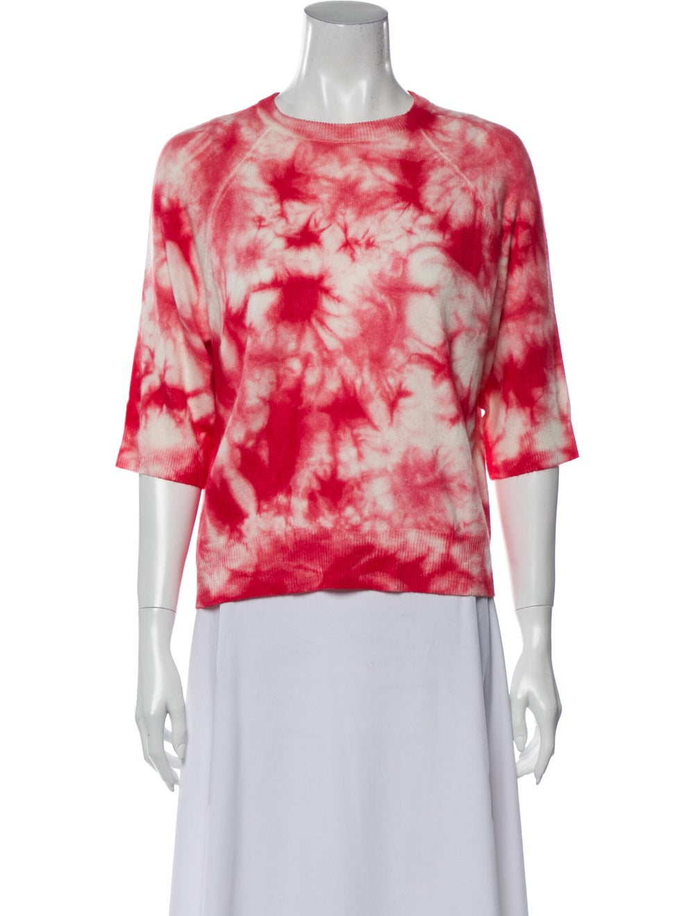 Michael Kors Cashmere Tie-Dye Print Sweater Red - image 1