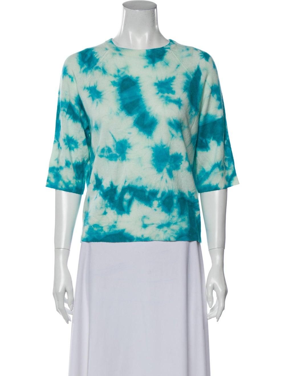 Michael Kors Cashmere Tie-Dye Print Sweater Blue - image 1