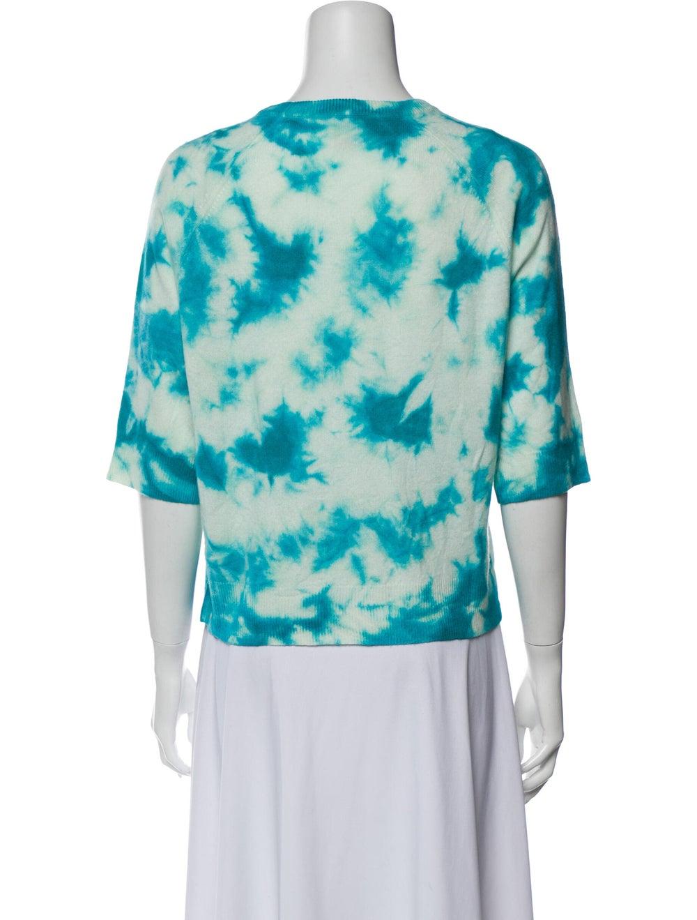 Michael Kors Cashmere Tie-Dye Print Sweater Blue - image 3
