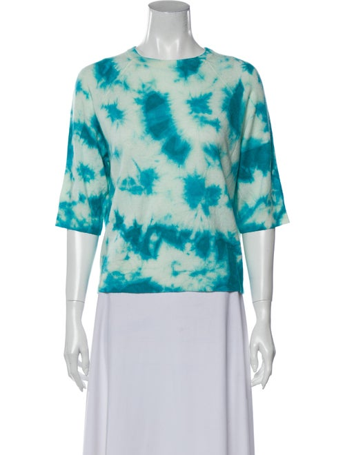 Michael Kors Cashmere Tie-Dye Print Sweater Blue