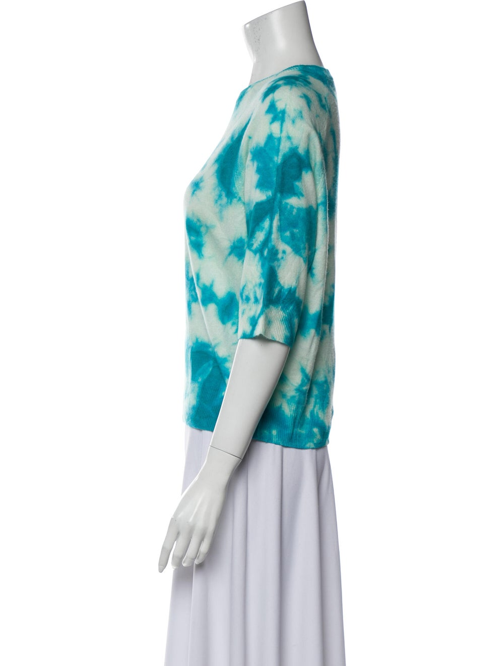 Michael Kors Cashmere Tie-Dye Print Sweater Blue - image 2