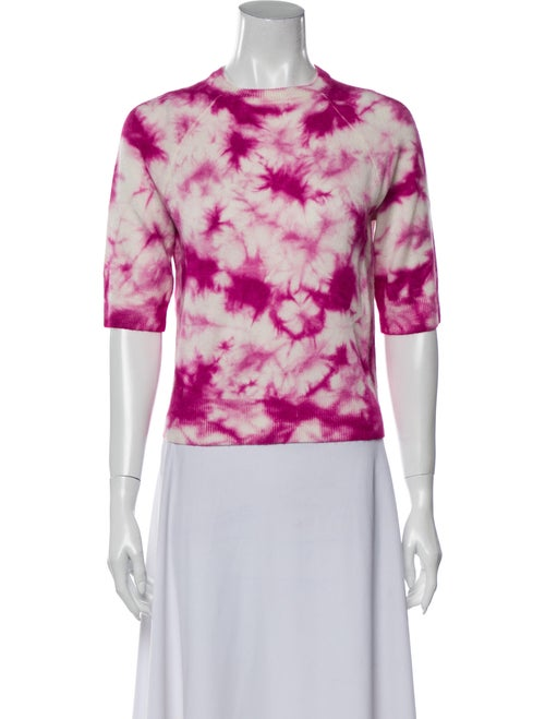 Michael Kors Cashmere Tie-Dye Print Sweater Pink