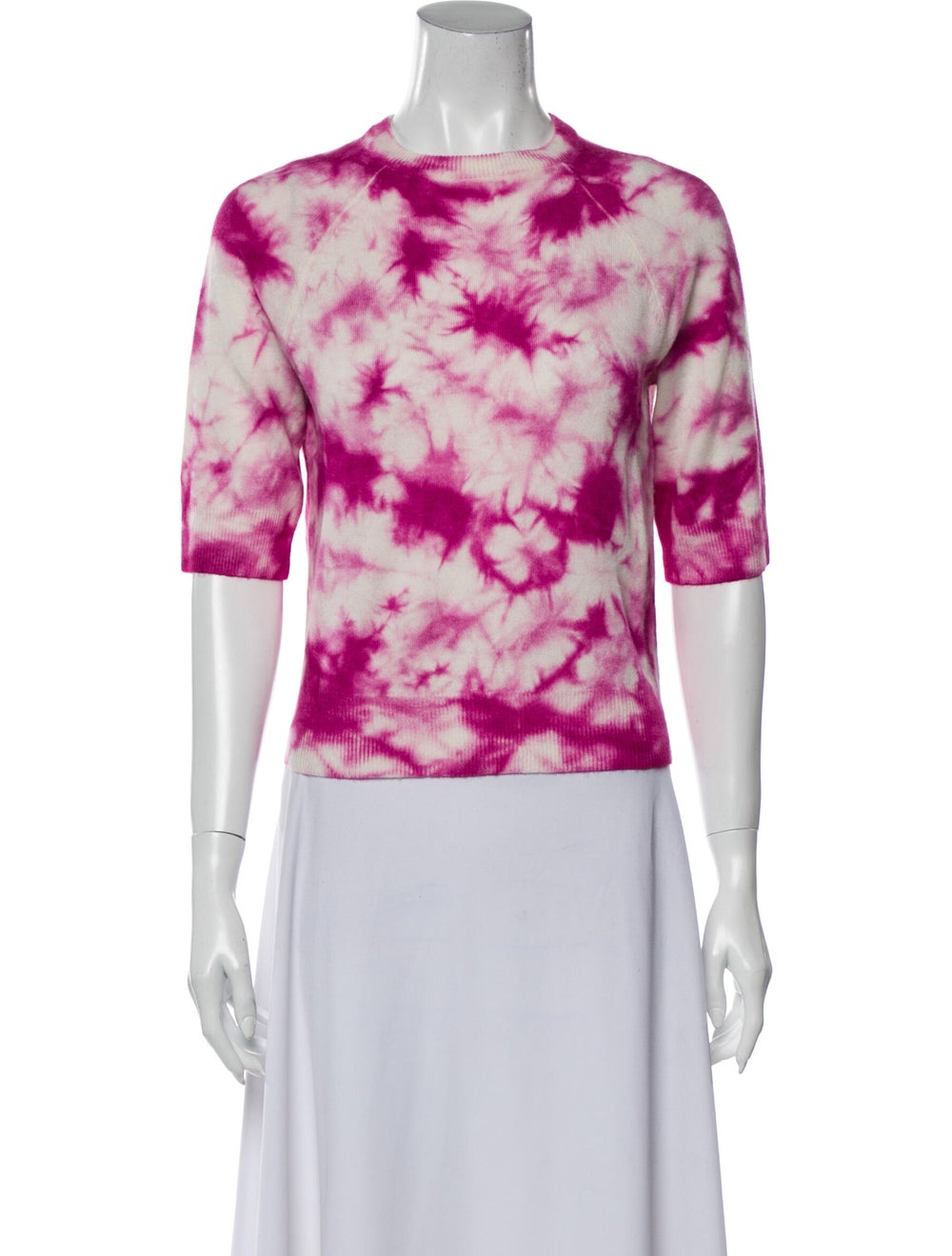 Michael Kors Cashmere Tie-Dye Print Sweater Pink - image 1