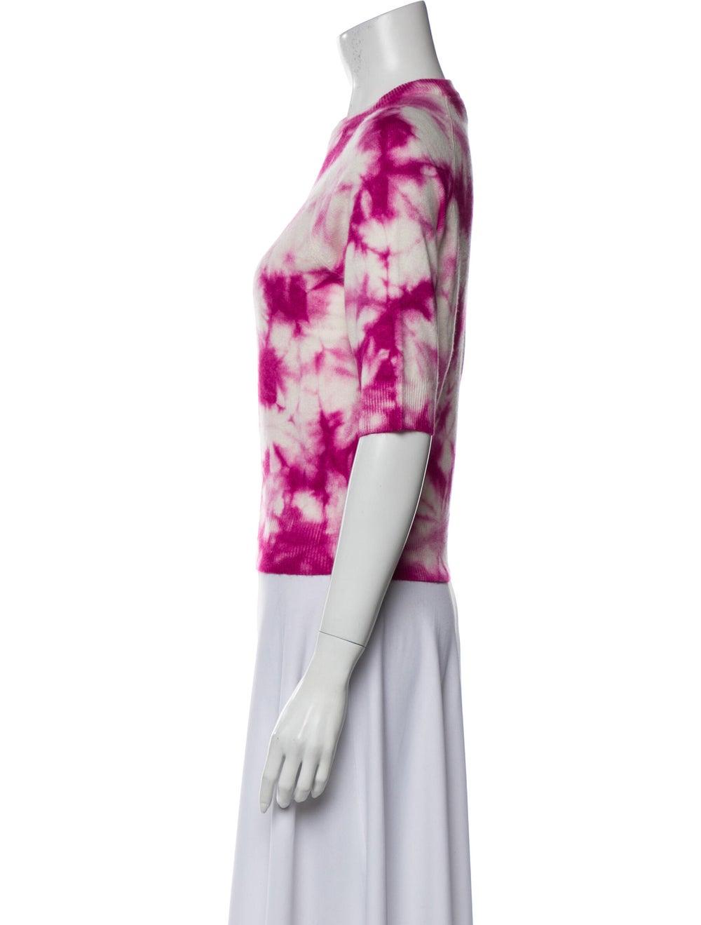 Michael Kors Cashmere Tie-Dye Print Sweater Pink - image 2