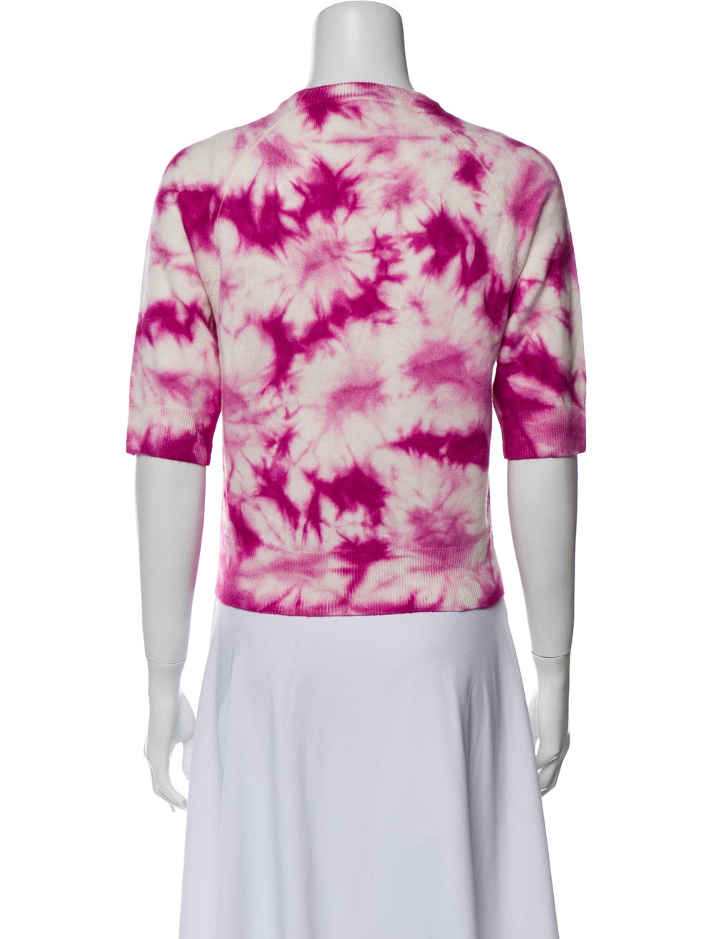 Michael Kors Cashmere Tie-Dye Print Sweater Pink - image 3