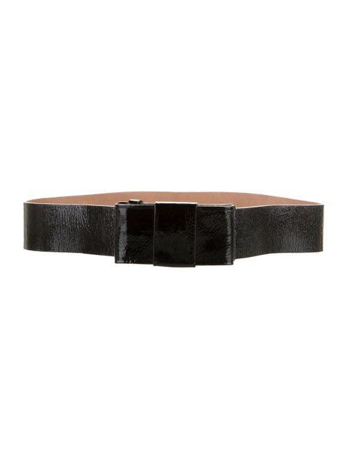Michael Kors Patent Leather Wide Belt Black