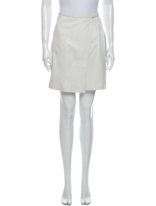Michael Kors Leather Mini Skirt White