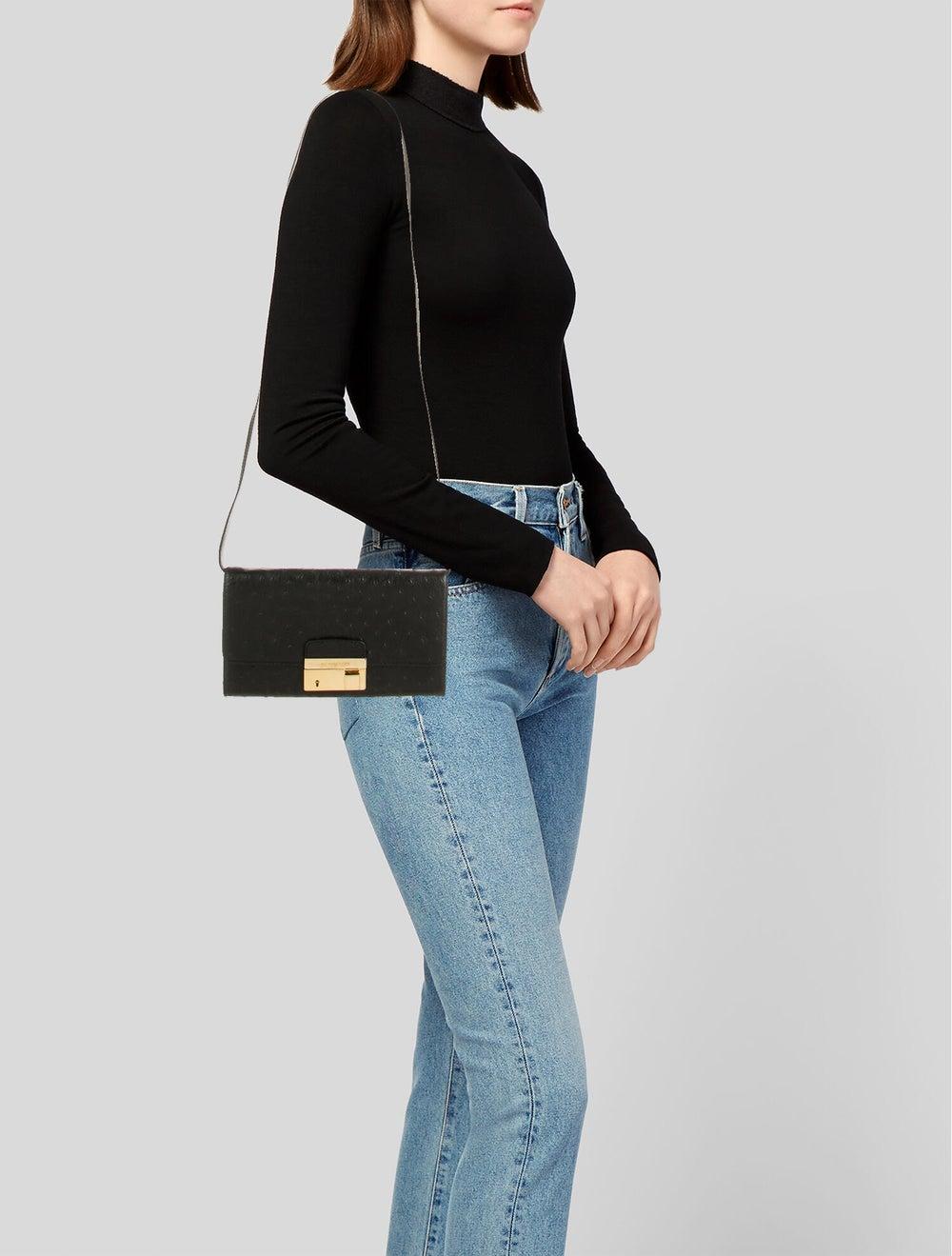 Michael Kors Embossed Leather Bag Black - image 2