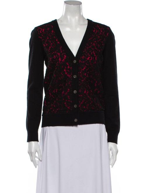 Michael Kors Cashmere Lace Pattern Sweater Black