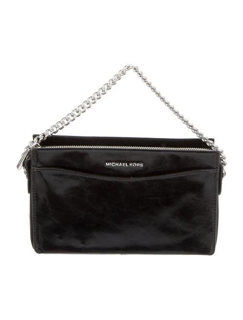 Michael Kors Distressed Leather Crossbody Bag Blac