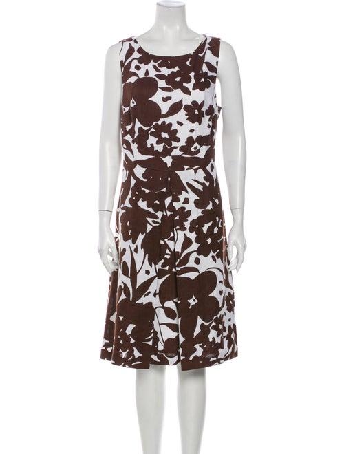 Michael Kors Linen Knee-Length Dress White