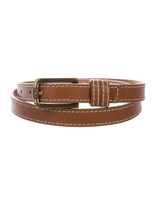 Michael Kors Leather Skinny Belt brown