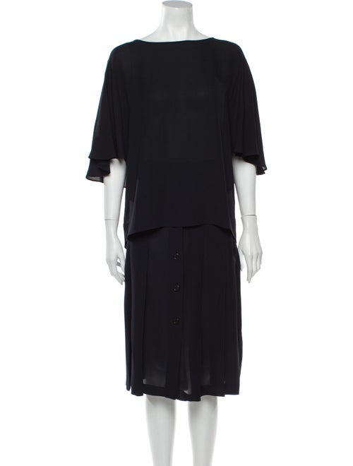 Michael Kors Pleated Accents Skirt Set Blue