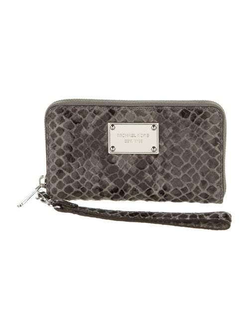 Michael Kors Embossed Leather Smartphone Wristlet