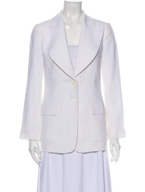Michael Kors Linen Blazer White
