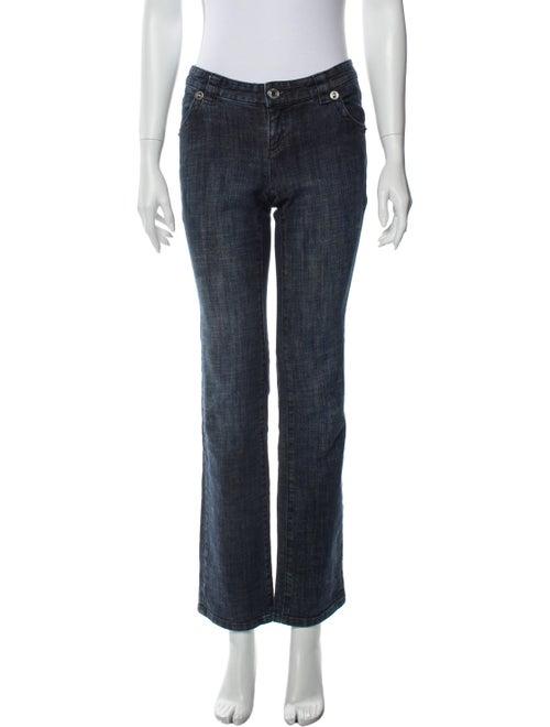 Michael Kors Low-Rise Straight Leg Jeans Blue