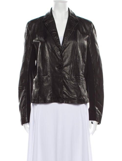Michael Kors Leather Blazer Black