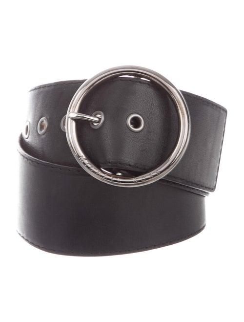 Michael Kors Leather Wide Belt Black