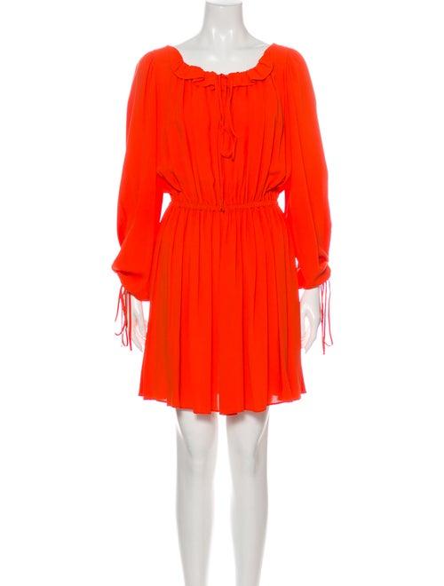 Michael Kors Silk Mini Dress Orange