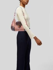Michael Kors Python Trimmed Glitter Shoulder Bag w/ Tags