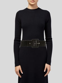 Michael Kors Wide Leather Waist Belt