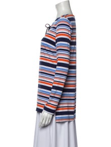 Michael Kors Striped V-Neck Top w/ Tags