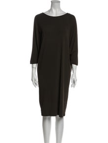 Michael Kors Bateau Neckline Knee-Length Dress