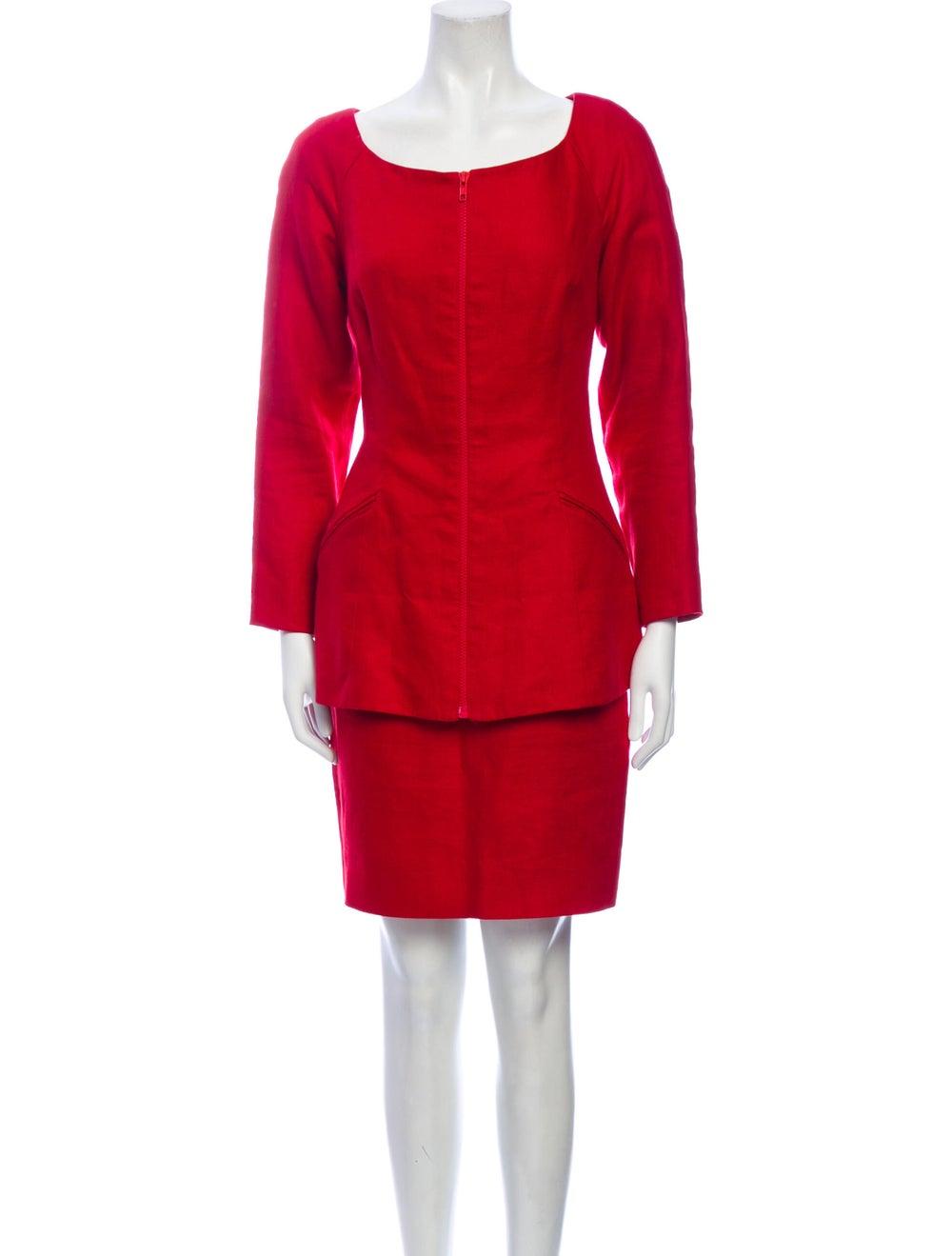 Michael Kors Linen Skirt Suit Red - image 1
