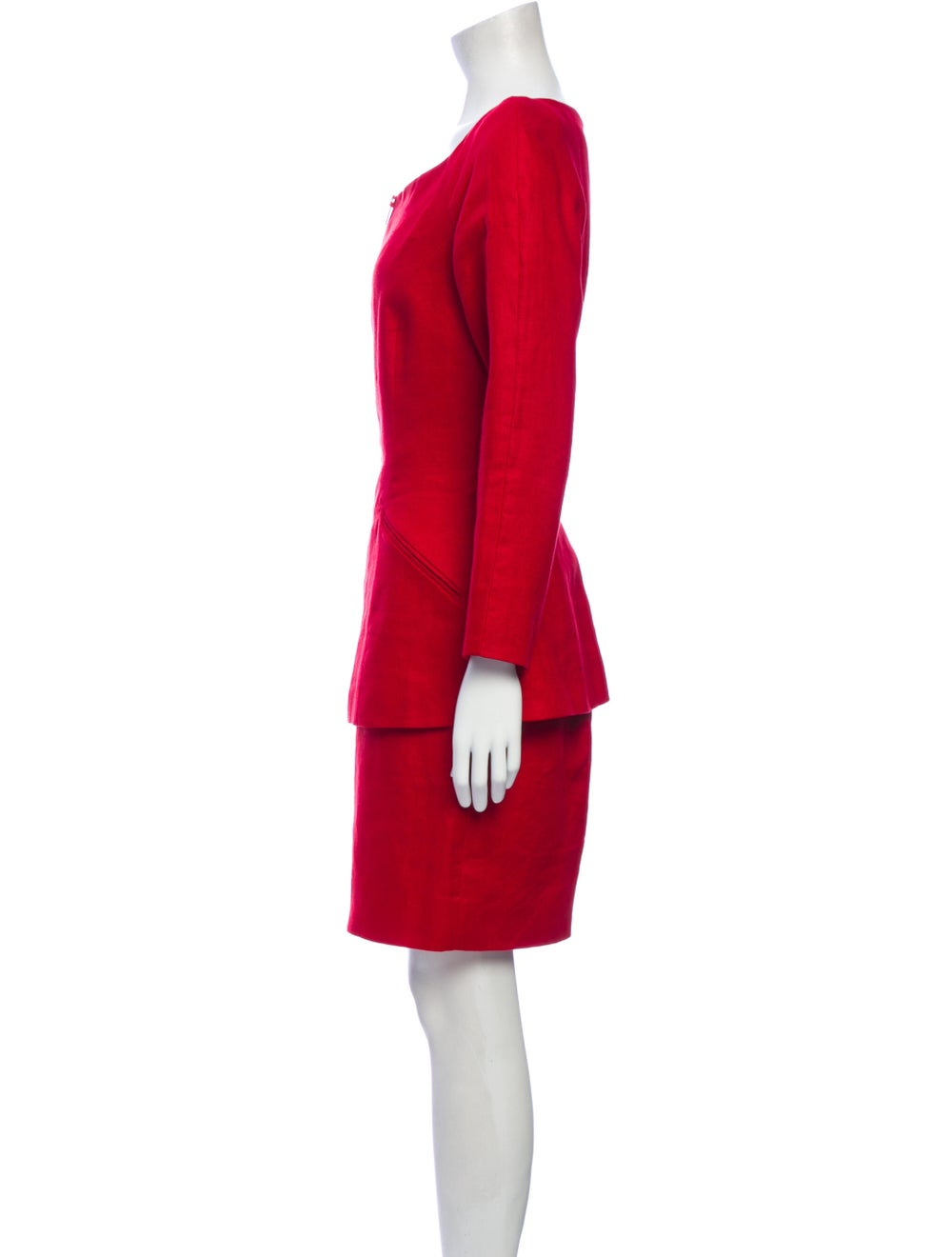 Michael Kors Linen Skirt Suit Red - image 2