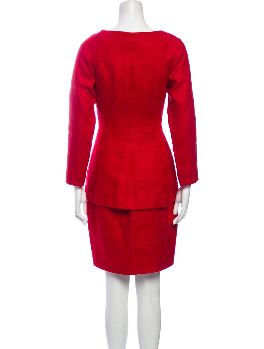 Michael Kors Linen Skirt Suit Red - image 3