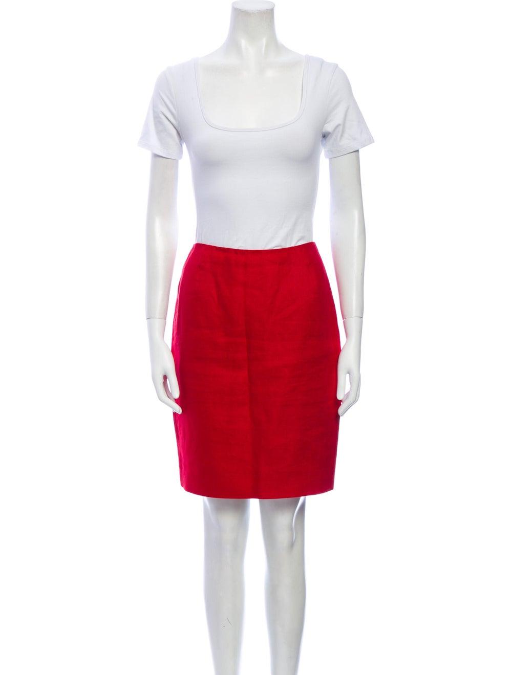 Michael Kors Linen Skirt Suit Red - image 4